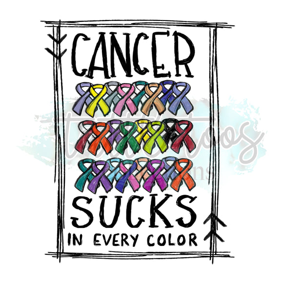 CANCER SUCKS IN EVERY COLOR LH 1