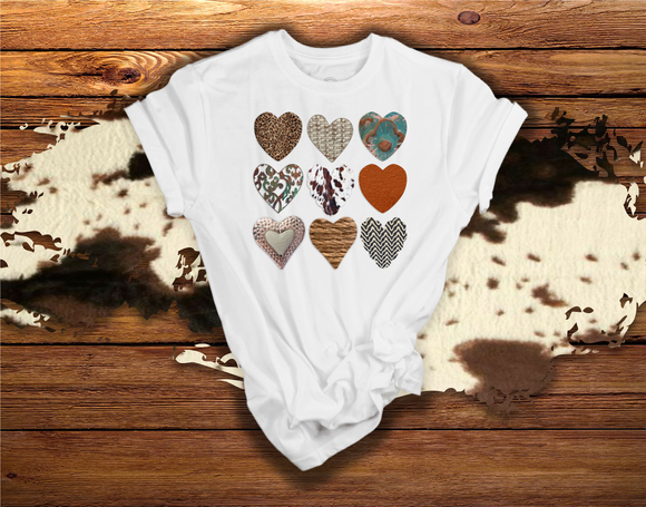 *SOFT* COUNTRY THEMED HEARTS - 0636