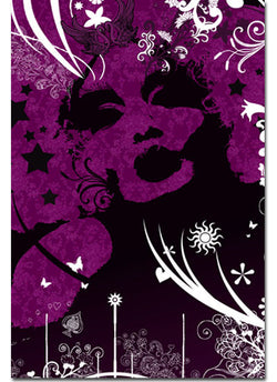 Afro Diva - Purple - Kandibox Canvas Art Prints and Designer Home Interiors