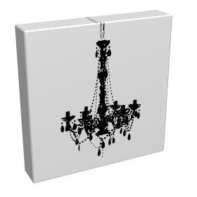 The Chandelier - Kandibox Canvas Art Prints and Designer Home Interiors