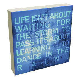 Rain Dance - Blue - Kandibox Canvas Art Prints and Designer Home Interiors