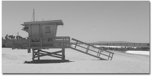 Lifeguard Hut IV - Kandibox Canvas Art Prints and Designer Home Interiors