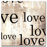 Love - Light Brown - Kandibox Canvas Art Prints and Designer Home Interiors