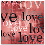 Love - Red - Kandibox Canvas Art Prints and Designer Home Interiors
