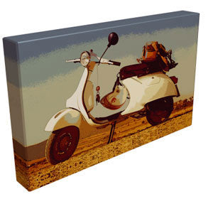 Parked Up Classic Vespa - Kandibox Canvas Art Prints and Designer Home Interiors
