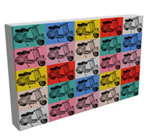Pop Art - Classic Vespa - Kandibox Canvas Art Prints and Designer Home Interiors