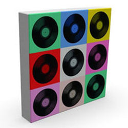 Vinyl II - Kandibox Canvas Art Prints and Designer Home Interiors