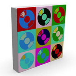 Vinyl I - Kandibox Canvas Art Prints and Designer Home Interiors