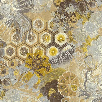 270020 Windflower C Silver Cloud Pk Lifestyles Fabric - charlestonfabrics.com
