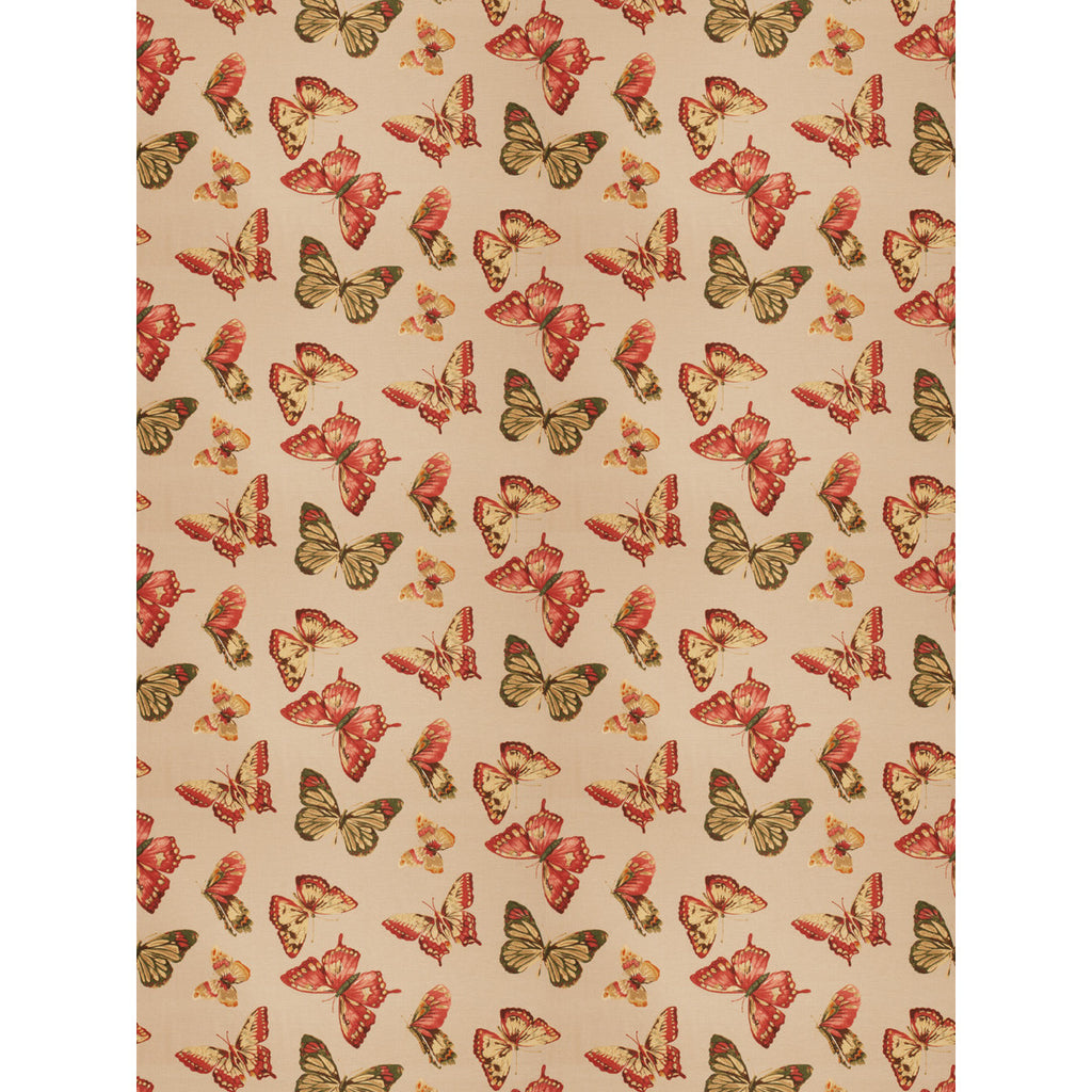 Charleston Maraca Persimmon Novelty Fabric - charlestonfabrics.com