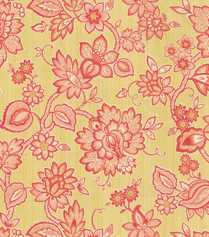 653461 Floral Flair Golden Pk Lifestyles Fabric - charlestonfabrics.com