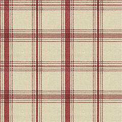 662672 Pantry Plaid Crimson Pk Lifestyles Fabric - charlestonfabrics.com