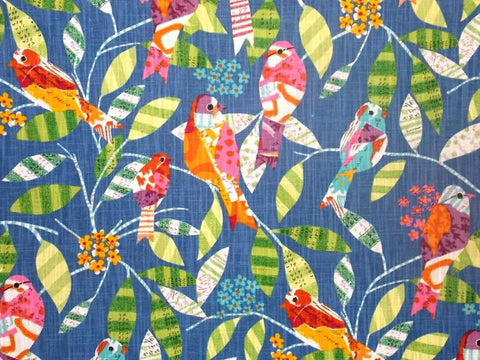 P Kaufmann Feathered Friends 003 Bluebird Prints Fabric - charlestonfabrics.com