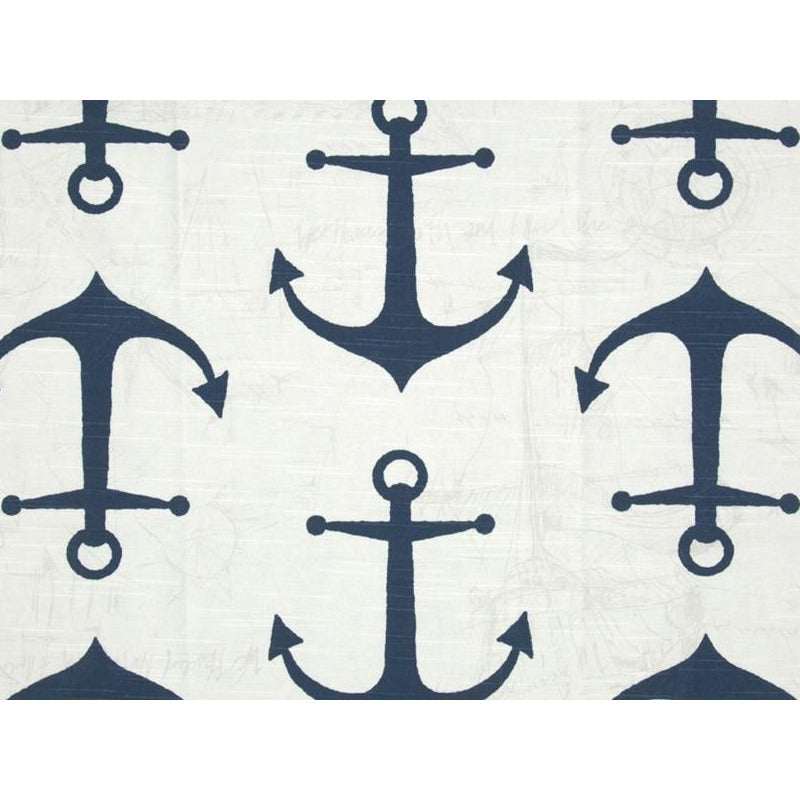 Premier Prints Anchor Slub Navy Prints Fabric - charlestonfabrics.com