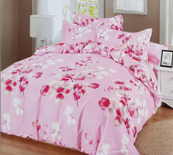 Duvet Cover set 90 GSM quality Double King size Branches Pink - cushion mania