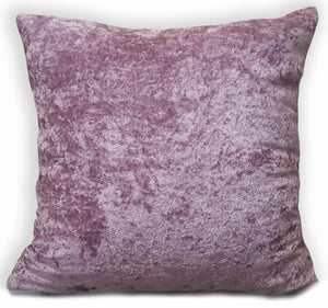 "large plain crush velvet cushions + covers or covers 10 colours 20x20"" or 17x17"" Mauve - cushion mania"