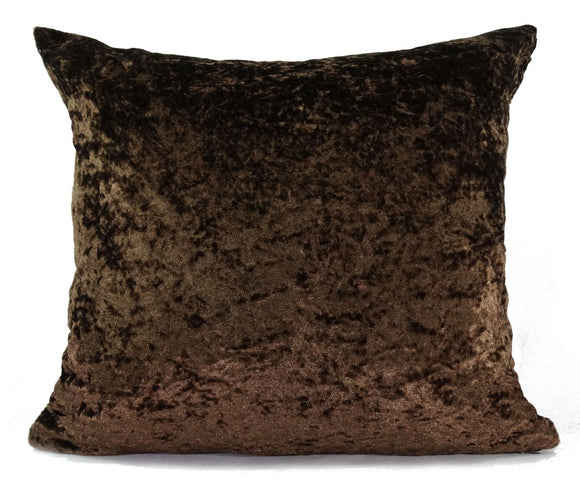 large plain crush velvet cushions + covers or covers 10 colours 20x20