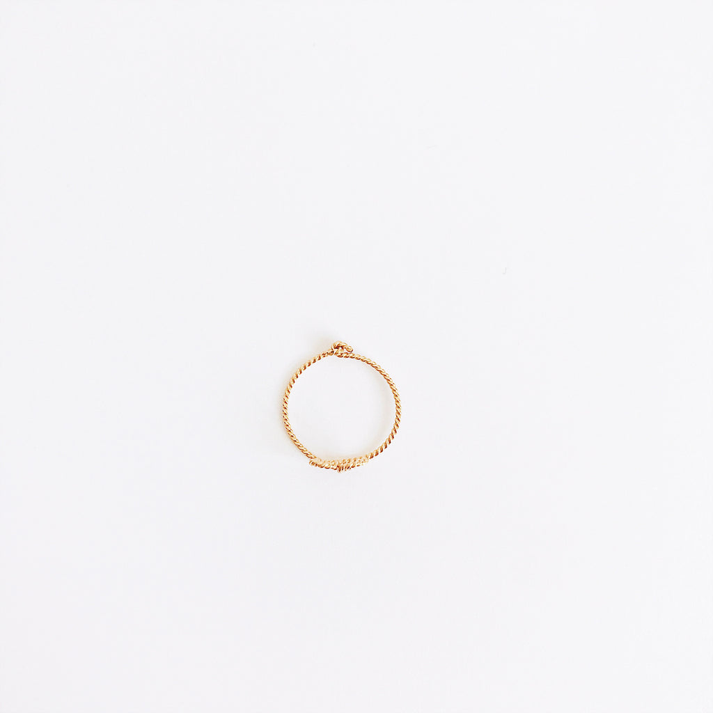 Personalised Initials 'You & Me' Twisted Ring