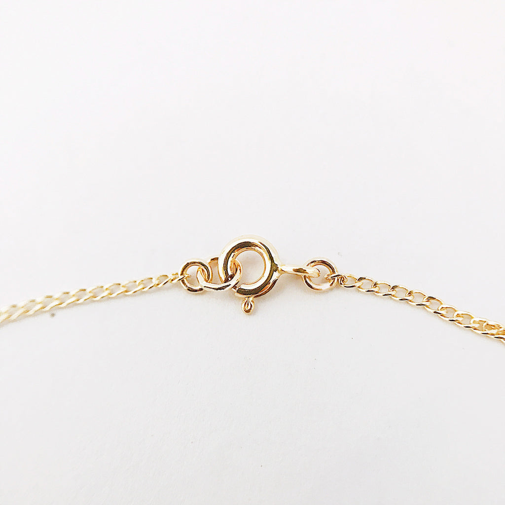 Personalised Name Chain Bracelet Yellow Gold Filled