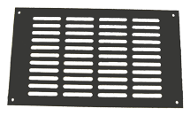 Oasis Faceplate 7 x 12 Grill Black Anodized - PN: 1049