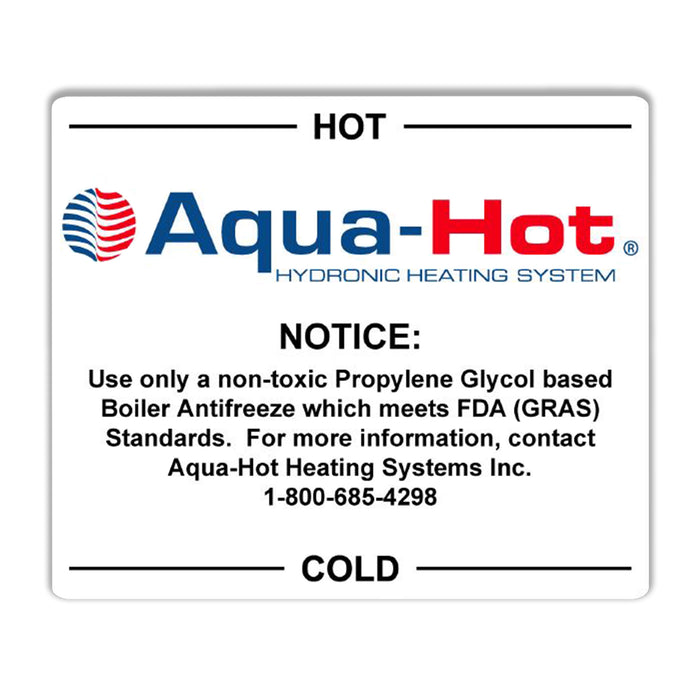 3 Qt. Expansion Tank Label