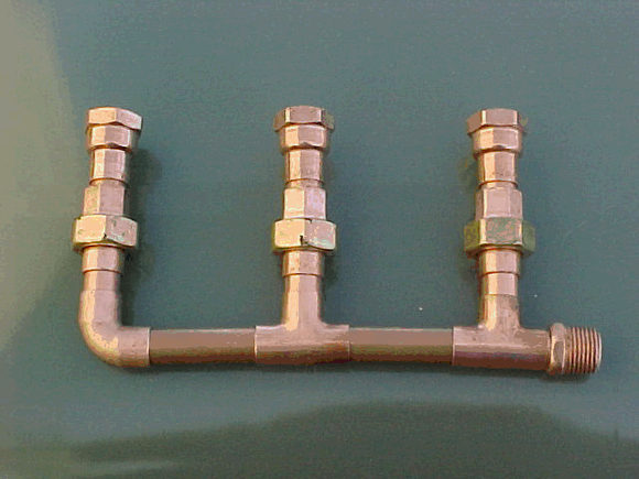 2 Zone Pump Manifold Pipe Assembly