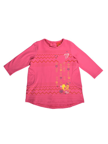 Girls long-sleeve tunic top