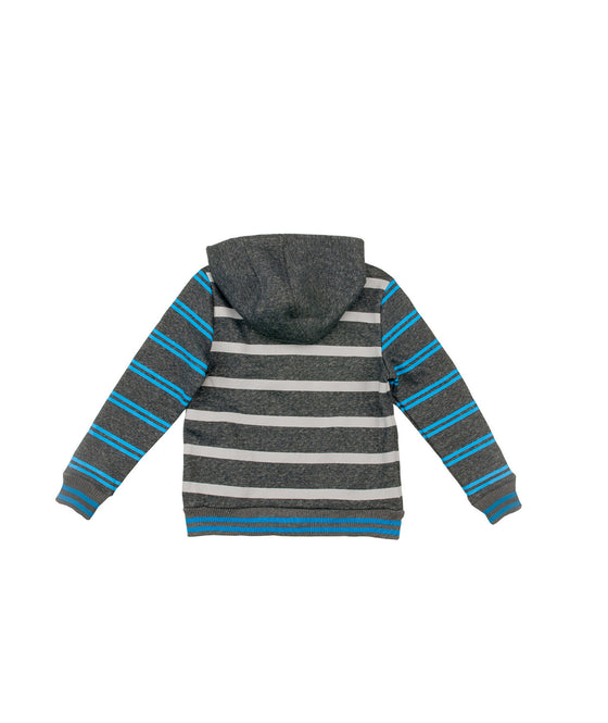 Garçons Sweat-shirt à capuche rayé French Terry