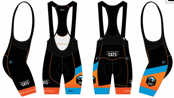 Split-Zero Bib-Short Men's  - Adventure Cats Design #2