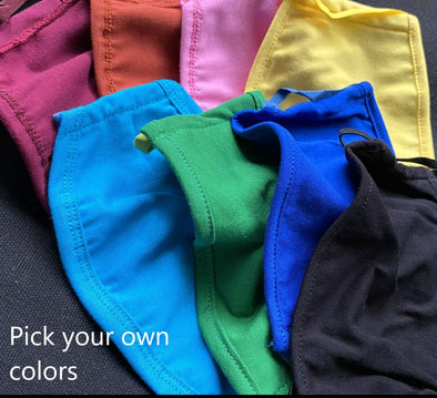 Athlos Face Covers - Pick Your Own Colors - Adult Size- (Pack of 5)