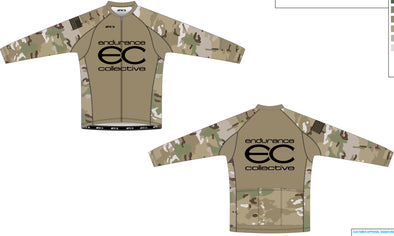 Split Zero Long Sleeve Jersey Men's - Endurance Collective Camo