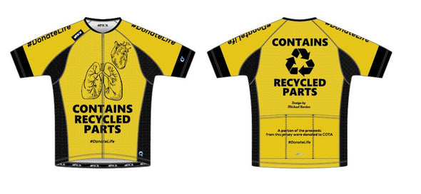 Split-Zero Feather Jersey Men's - COTA - Heart/Lungs - Yellow