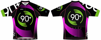 Split-Zero Pink Draft Jersey Women's - 90+ Cycling