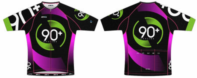 Split-Zero Pink Feather Jersey Women's - 90+ Cycling