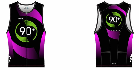 Chronos Pink Tri Jersey Women's - 90+ Cycling