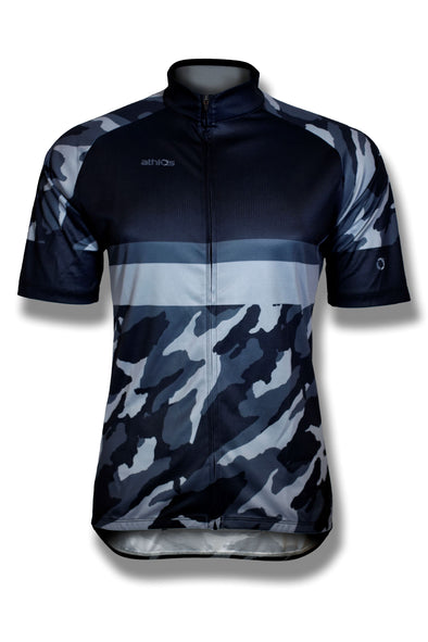 Athlos - Men's Black Camo Squad One Cycling Jersey