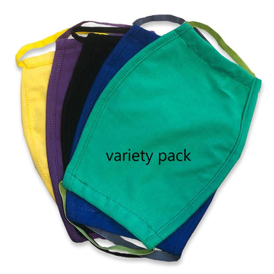 Athlos Face Covers - Variety & Solid Color Packs - Adult Size - (Pack of 5)
