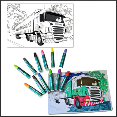 Truck Colouring Set (M1211)