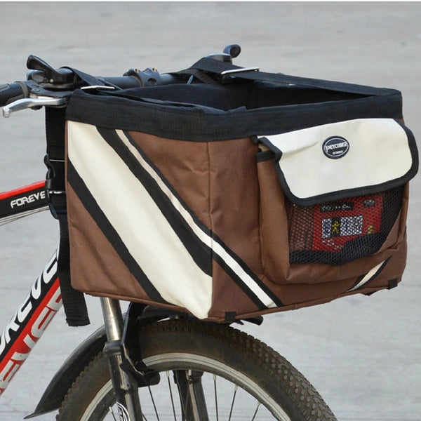 Portable Pet Dog Bicycle Carrier Bag
