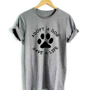Adopt a Dog Paw Womens Tee