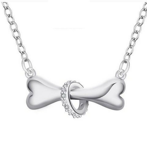 FREE GIFT Silver Plated Dog Bone Necklace