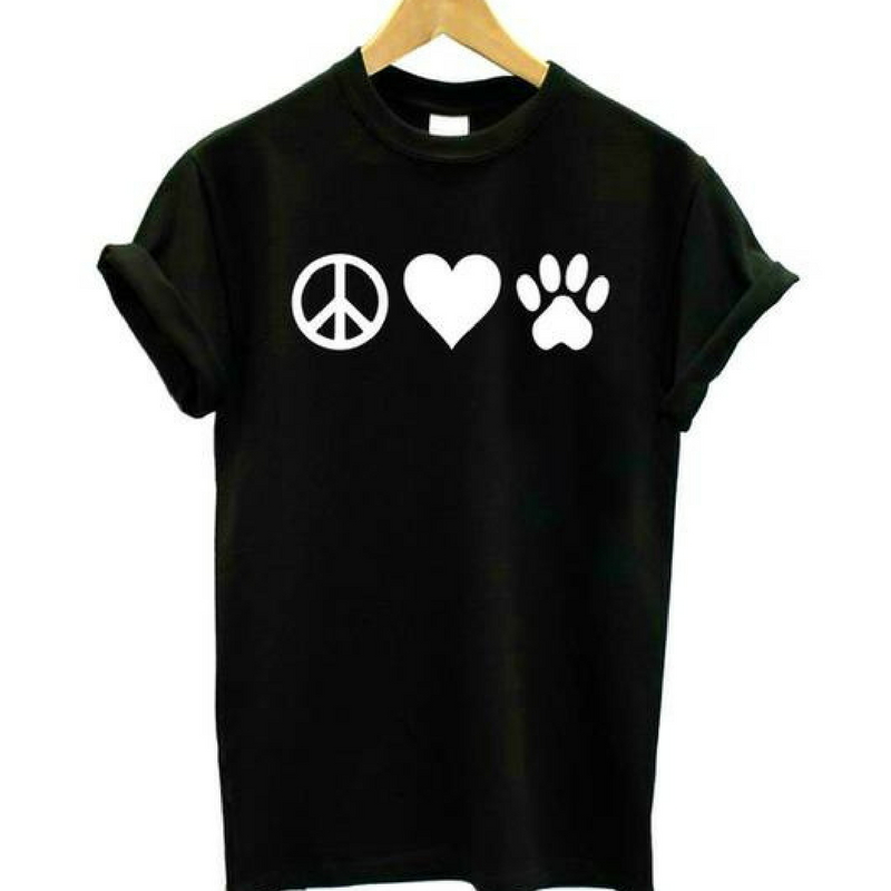Peace and Love Dog Lover Tee