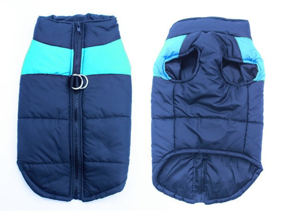 Waterproof Blue Winter Dog Jacket-Pet-Natty Pooch