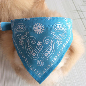 Blue Natty Pooch Adjustable Dog Bandana Scarf Collar-Pet-Natty Pooch