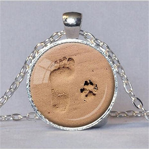 Natty Pooch and Me Glass Pendant Necklace-Jewellery-Natty Pooch