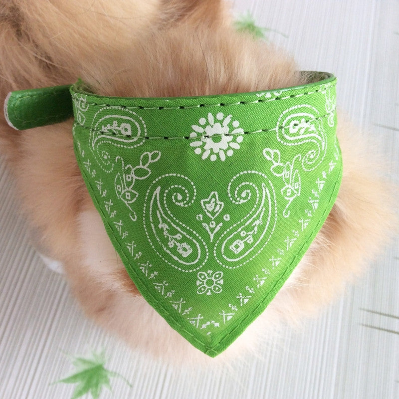 Green Natty Pooch Adjustable Dog Bandana Scarf Collar-Pet-Natty Pooch