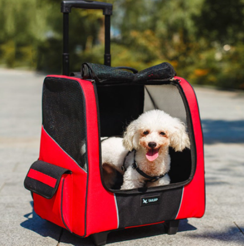 Natty Pooch Dog Traveller Case On Wheels (NEW DESIGN)-Natty Pooch
