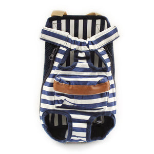 Armi Stripe Blue Front Dog Bag Carrier