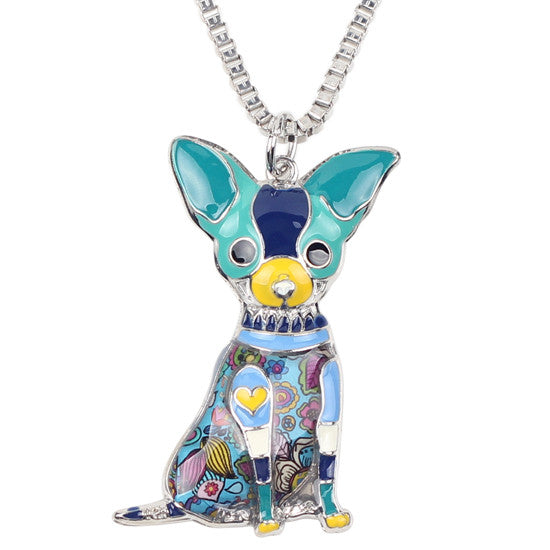 Statement Chihuahuas Dog Choker Necklace Chain