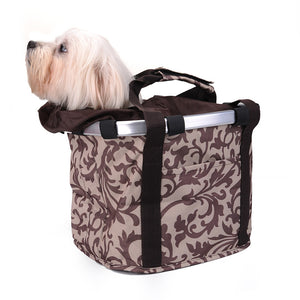 Pet Carrier Bike Basket  Aluminium Alloy Frame Pet Carrier